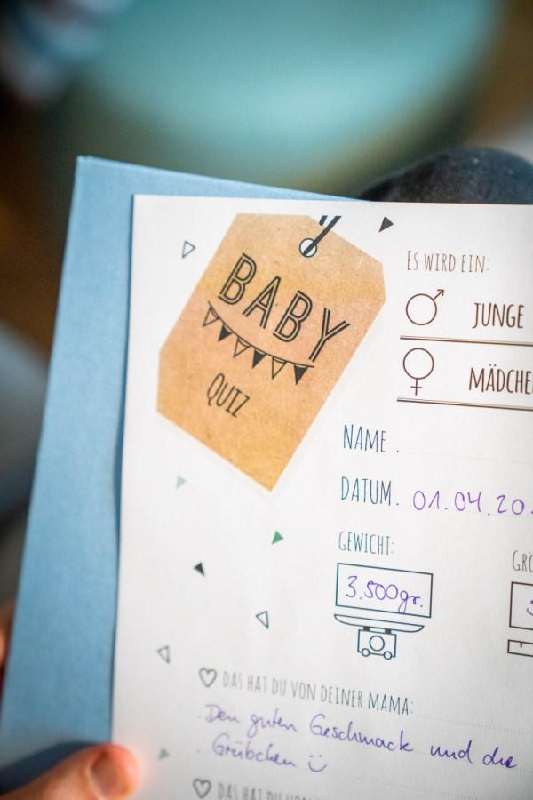 Wir haben eine Babyparty für unsere schwangere Freundin veranstaltet. Für euch hier Spieleideen zur Babyparty. Was man bei einer Babyshower so machen kann, lest ihr auf dem Blog. | Ichsowirso.de