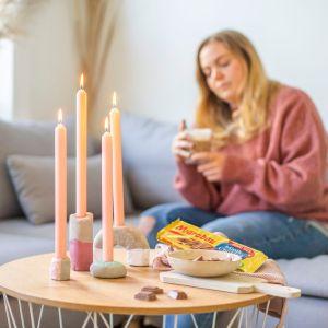 DIY Beton Kerzenständer selber machen mit der Marabou Kreativbox
