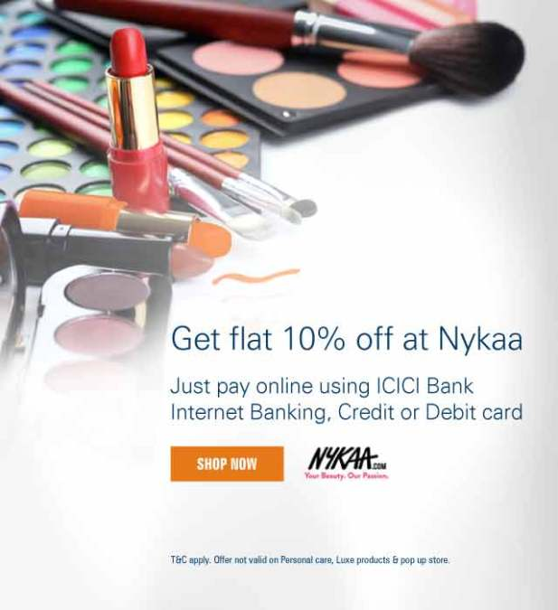 Image result for Nykaa Offer : Cosmetic Products starting at Rs.100