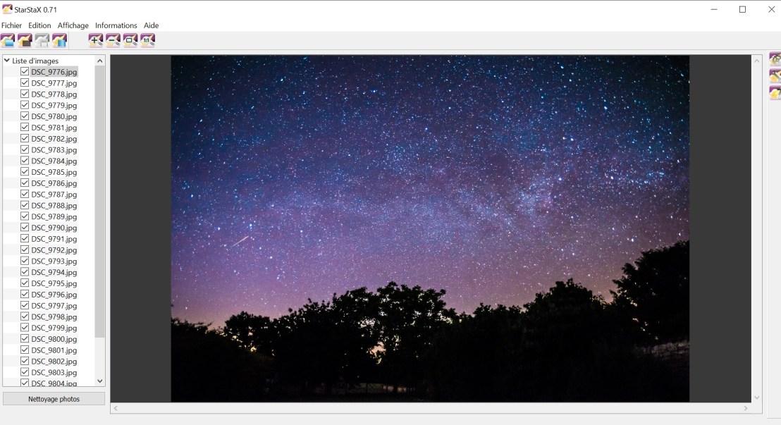 Startax tutoriel photographie photo lightroom trainée d'étoile débutant traînées d'étoiles