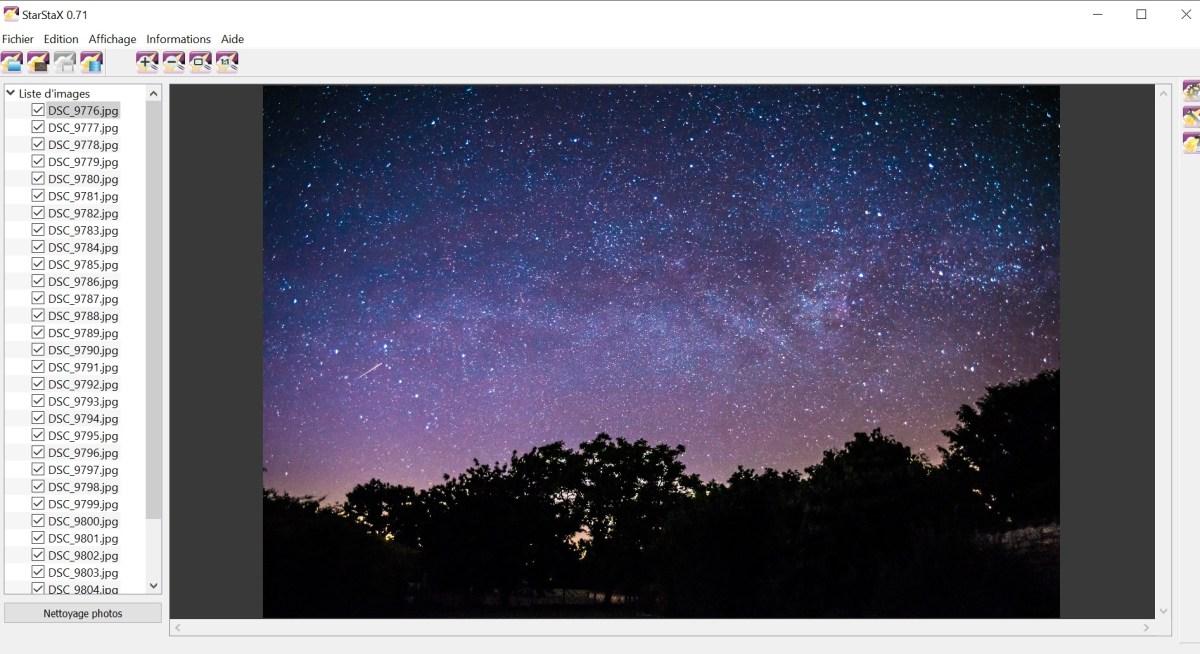 traînées d'étoiles tutoriel photographie photo lightroom trainée d'étoile débutant traînées d'étoiles