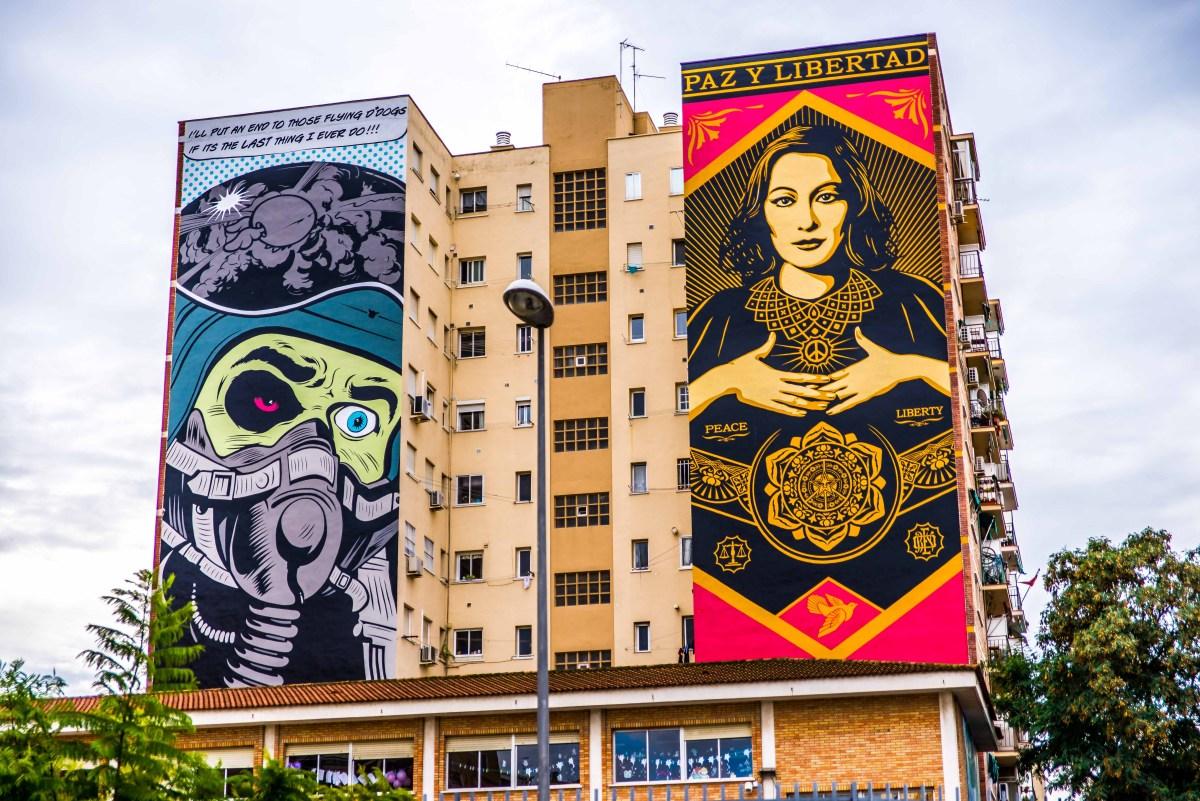 malaga andalousie streetart street art espagne icietlabas espana blog voyage blogvoyage