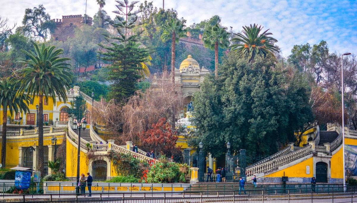 santiago chili blog voyage icietlabas ici et la bas cerro santa lucia