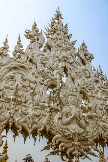 Wat Rong Khun White Temple Temple Blanc Chiang Rai Thailande