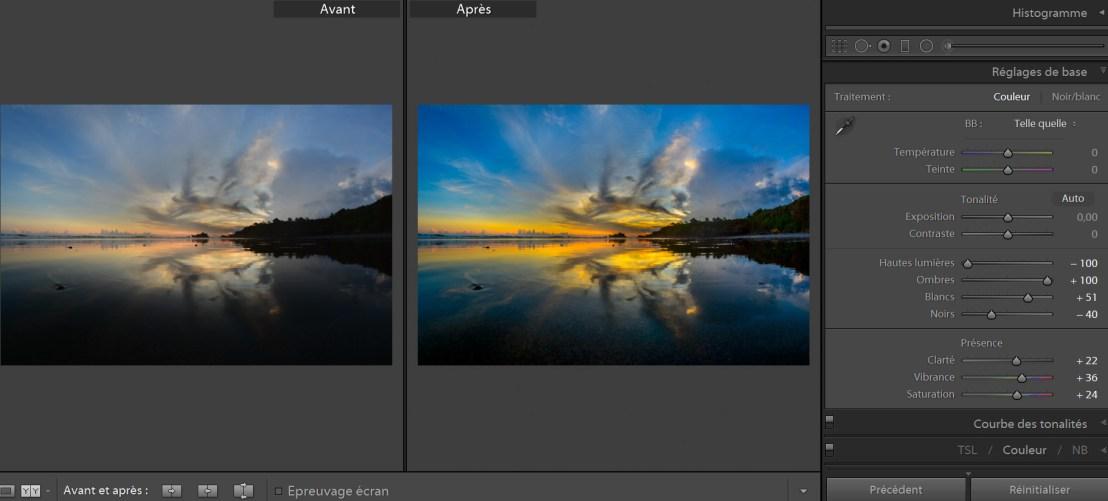 tutoriel retoucher un coucher de soleil avec lightroom blogvoyage icietlabas
