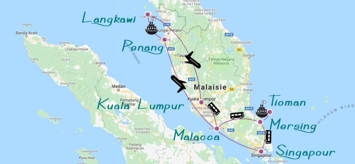Plan Malaisie trois semaines en malaisie asie blog voyage icietlabas