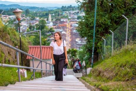 Salento Mirador Alto de la Cruz Village Colombie Quindío Blog Voyage