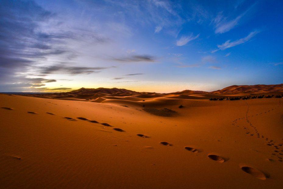 Désert du Sahara mergouza blog voyage