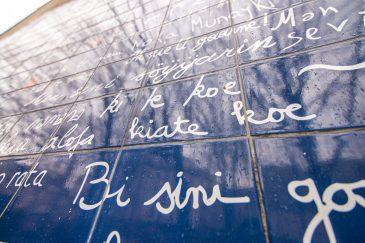 Mur des Je T'aime montmartre paris blog voyage