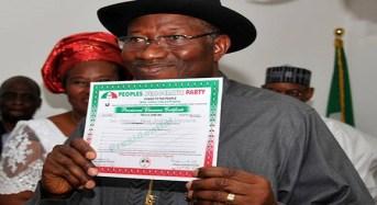 President Jonathan Scales PDP Screening