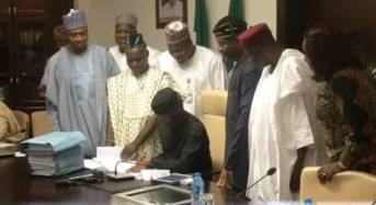 Osinbajo signs 2017 budget — one month after passage