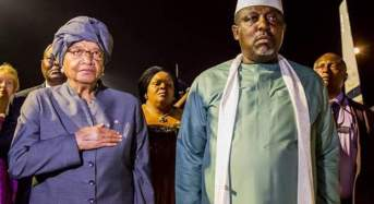 Gov Okorocha hosts Liberian President Sirleaf