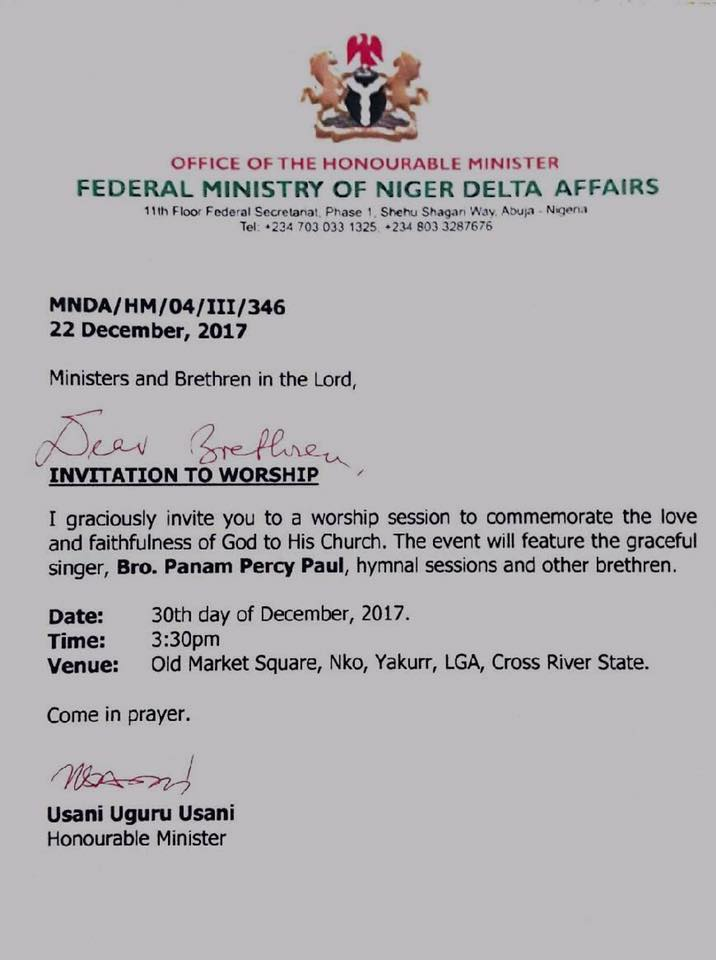 Minister In The Spotlight For Sending Out Church Invite With