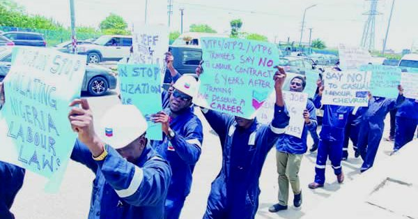 We have been on 'training' for five years without confirmation, cry Chevron trainees