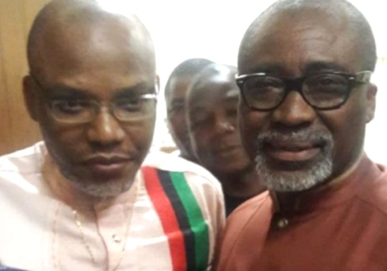 Abaribe, two others to pay N100 million each for failing to produce Nnamdi Kanu