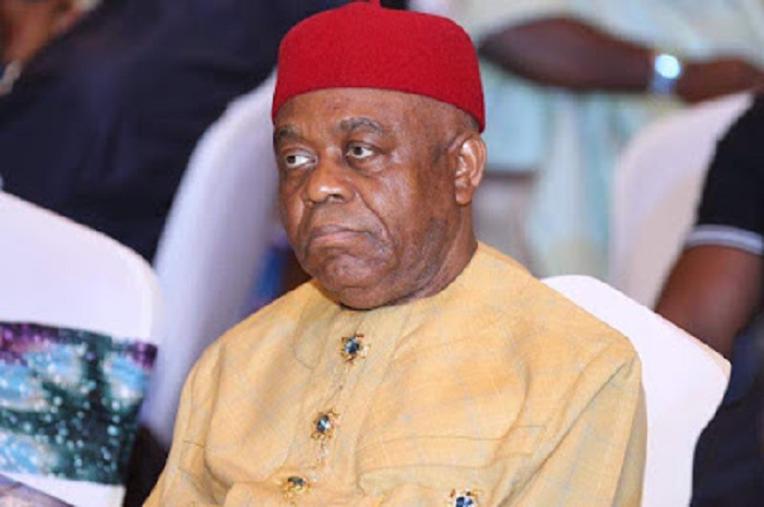 Former Abia State Governor, Theodore Orji in EFCC custody