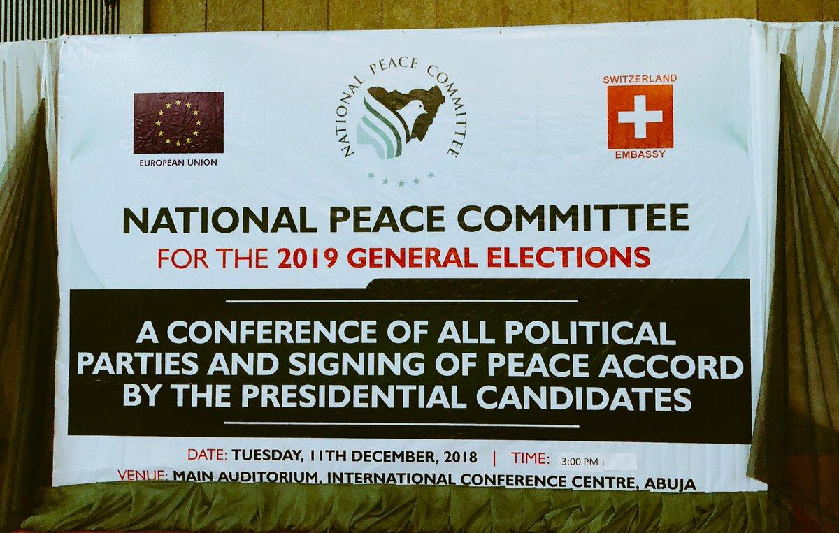 Atiku, Moghalu, Ezekwesili absent as presidential candidates sign peace pact
