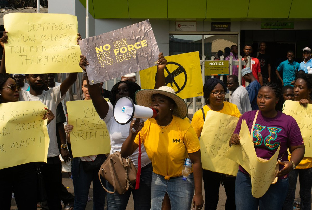 Yaba boys, stop touching us... women protest 'sexual harassment' by traders in Lagos
