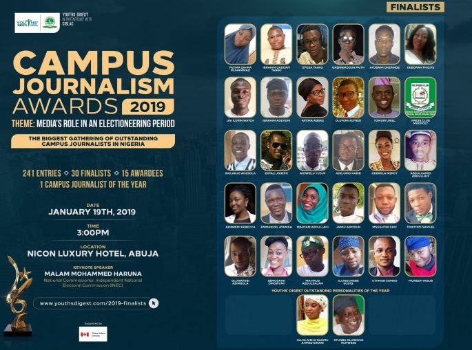 Group honours Nigeria's best student journalists