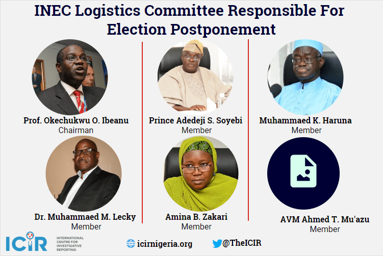 Here are the INEC personnel responsible for Saturday's election postponement