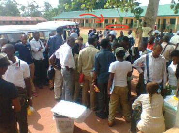 Screenshot Ward 6/ INEC Official video