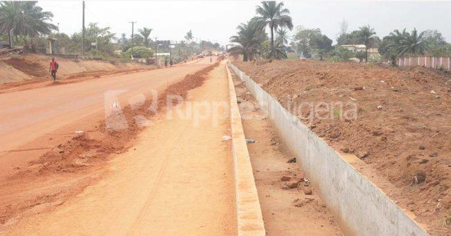 A section of the rehabilitated Umuahia-Bende-Ohafia Road. Photo by Patrick Egwu