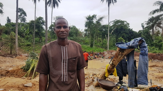 Rabiu Mohammed, a father of four left Daura, Katsina State in 2016 for Osun to take up artisanal gold mining. Photo Credit: Olugbenga Adanikin, The ICIR