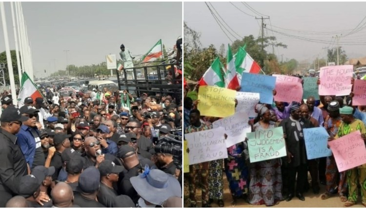 PDP Protest Ihedioha's removal