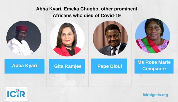 Africa Covid19 deaths
