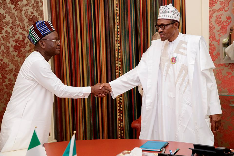Benue state Governor, Ortom with President Buhari