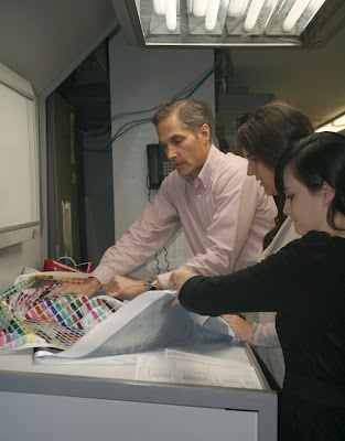 Jim Lyon at ICL Imaging color correcting a test print