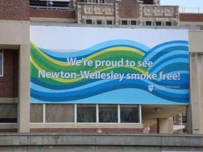Newton-Wellesley smoke free Outdoor Banner