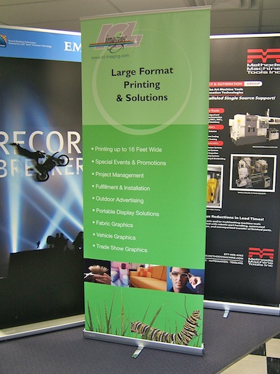 Large BannerStand at ICL Imaging