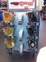 Retail Signage for baseball gloves