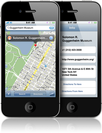 Apple Google Map iPhone