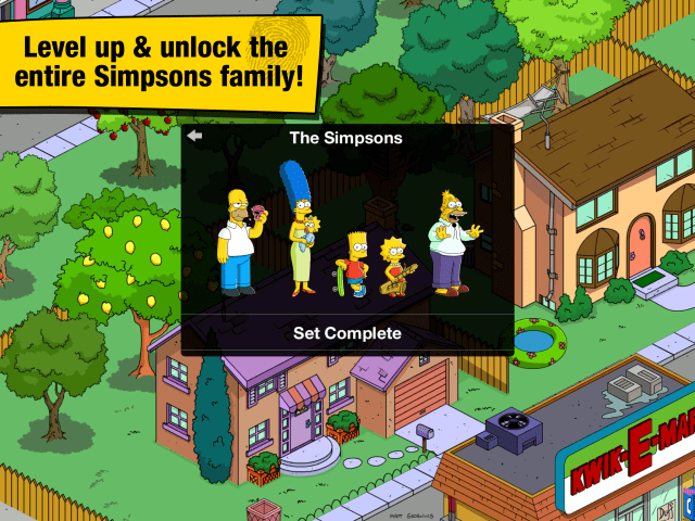 Simpsons Out Update Size Tapped Land