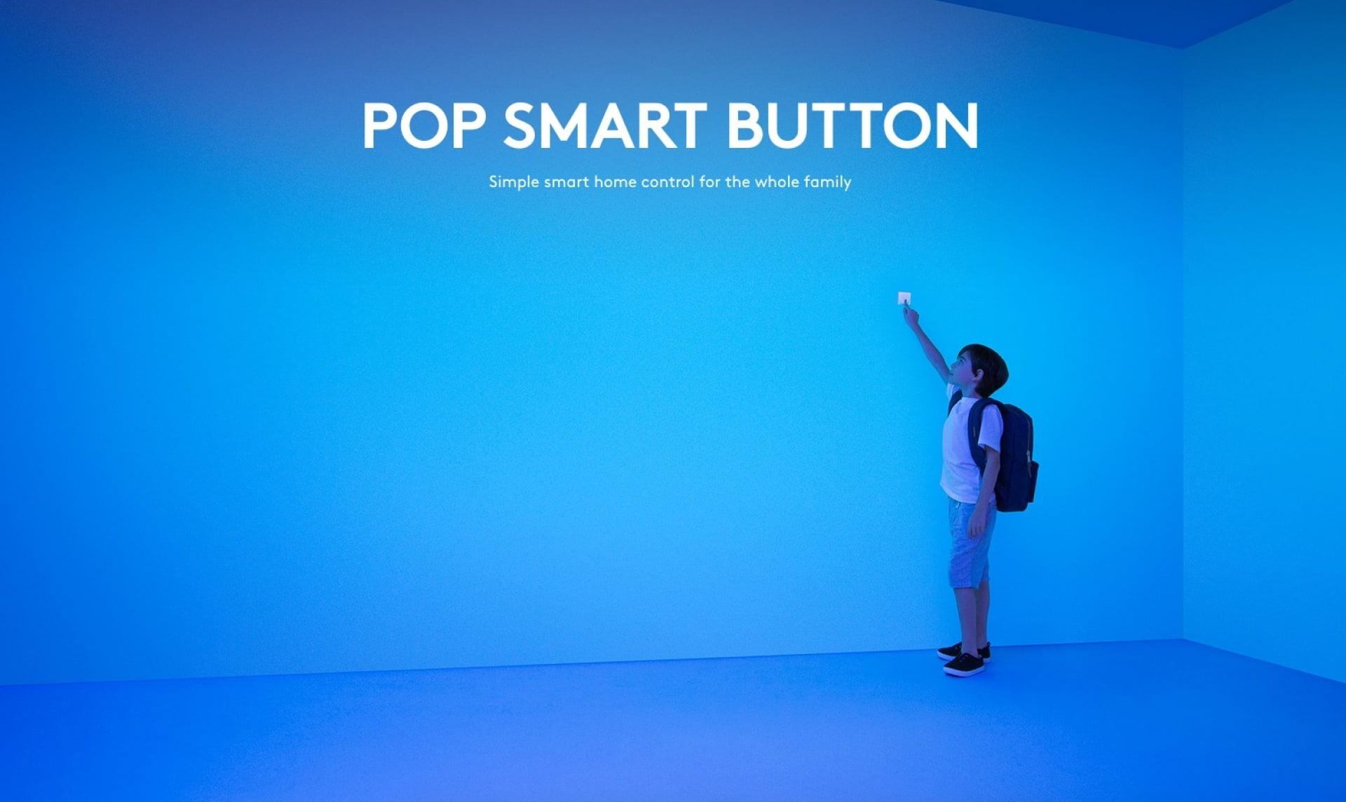 Logitech Unveils New POP Smart Button With Apple HomeKit Support