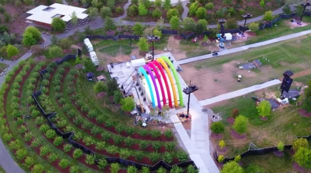 Rainbow Stage at Apple Park Built for May 17 Special Event