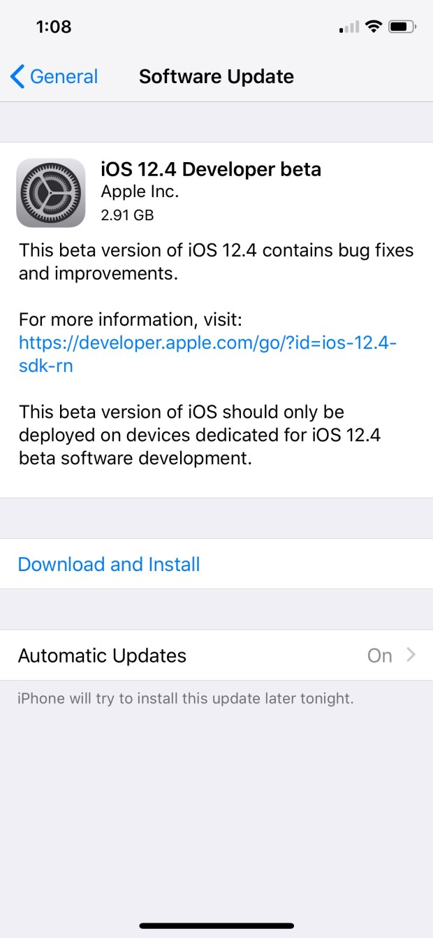 Apple Releases iOS 12.4 Beta [Download]