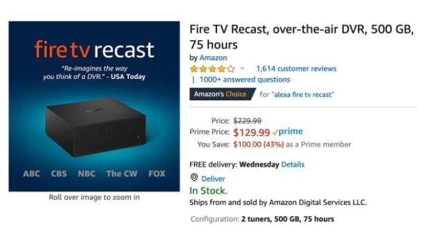Amazon Fire TV Recast On Sale for 43% Off [Deal]