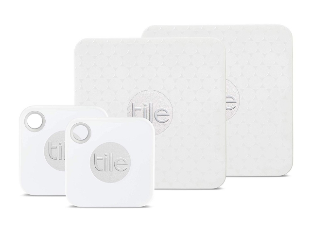 tile mate with replaceable battery and tile slim 4 pack 2 x mate 2 x slim