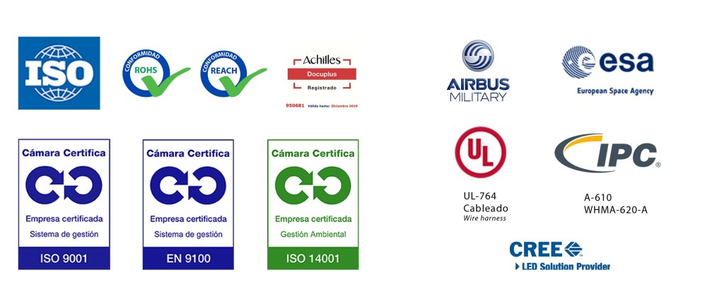 Certificaciones y homologaciones de ICM (Integral de Conexión y Montajes)