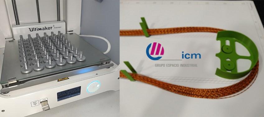 Útiles para enrutado de cables, creado con impresora 3d