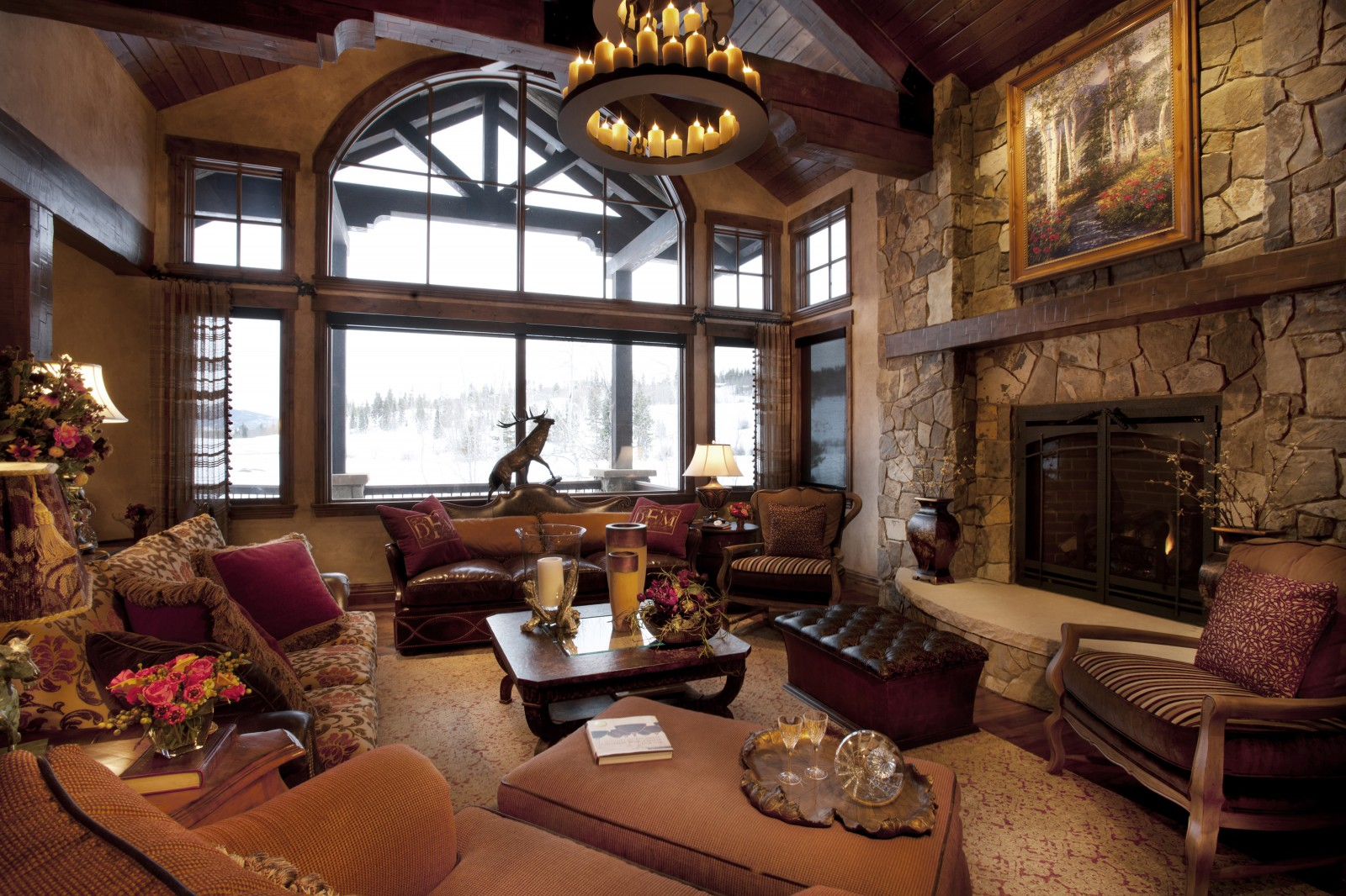 Rustic Log Cabin Decorating Ideas Icmt Set Elegant