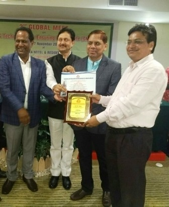 Renowned Academician Of Kanpur Agriculture University Prof R K Yadav Received Distinguished Scientist Award 2018 In Bali, Indonesia