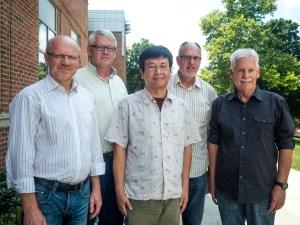 Executive Committee from L-R: Heinrich Klassen, Rudi Wiebe, Yoshifumi Tanaka, David Wiebe, Ed Boschman