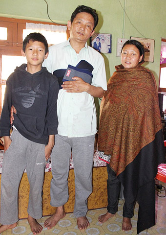 Pastor Limbu with his family.