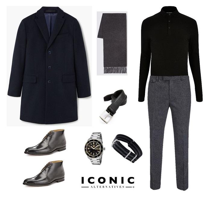 4 ways to wear the james bond navy overcoat