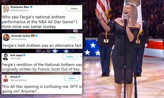 Watch Fergie's BIZARRE 'Star Spangled Banner' Performance image