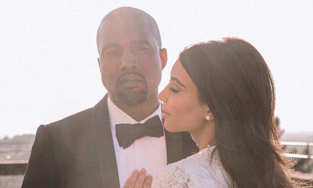 Kim Kardashian Wishes KANYE WEST a Happy 4th Anniversary image
